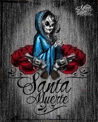 santa-muerte-tattoos-aztoon-tattoo-studio-santa-muerte-flash